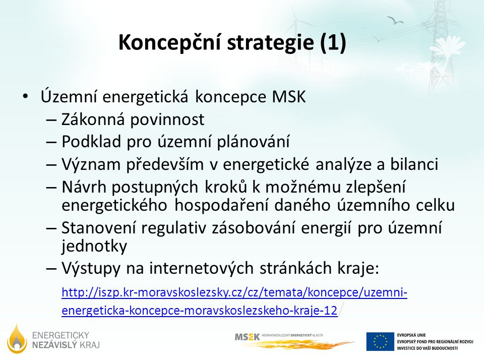Koncepční strategie (1)