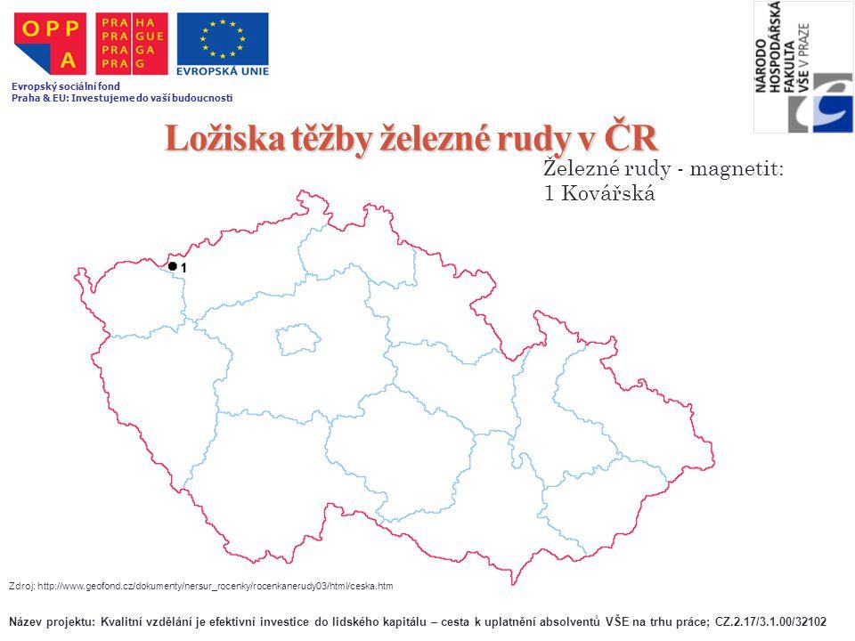 Ložiska těžby železné rudy v ČR