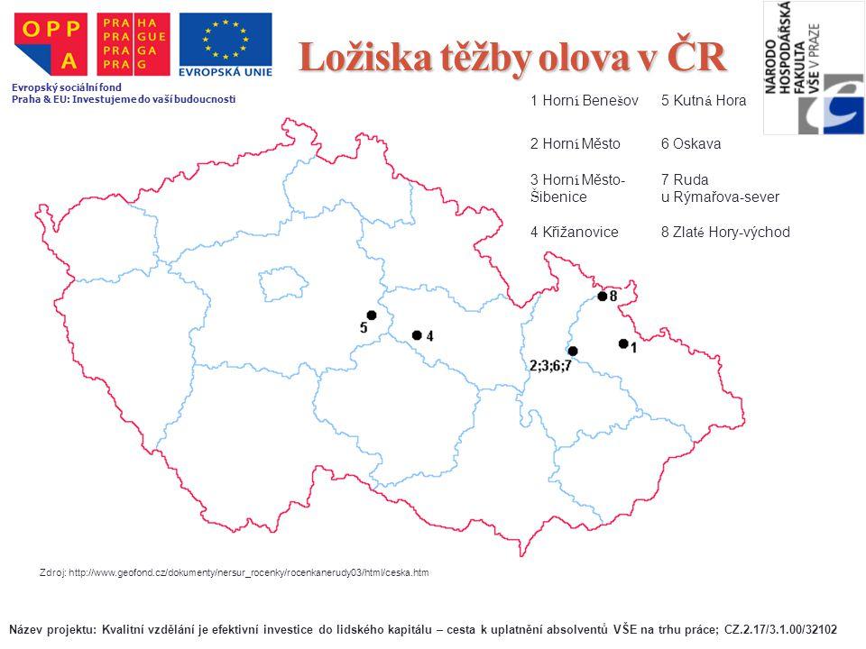 Ložiska těžby olova v ČR