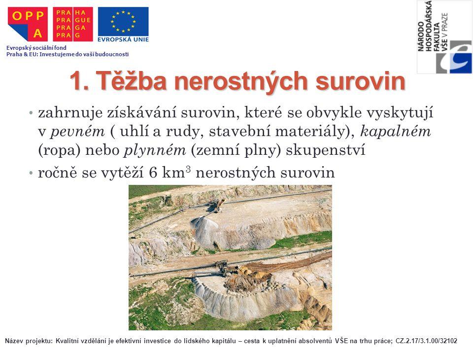 1. Těžba nerostných surovin