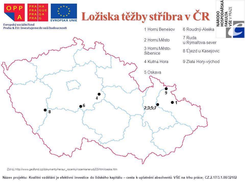 Ložiska těžby stříbra v ČR