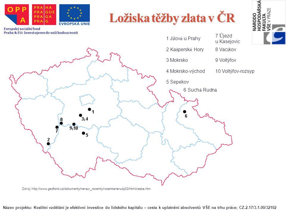 Ložiska těžby zlata v ČR