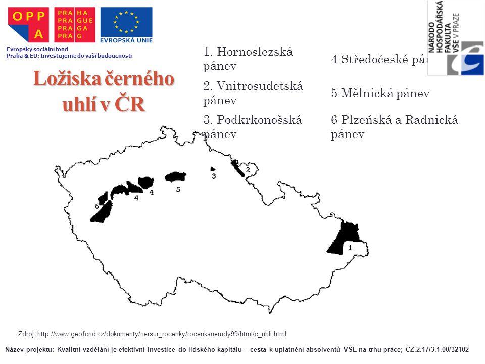 Ložiska černého uhlí v ČR