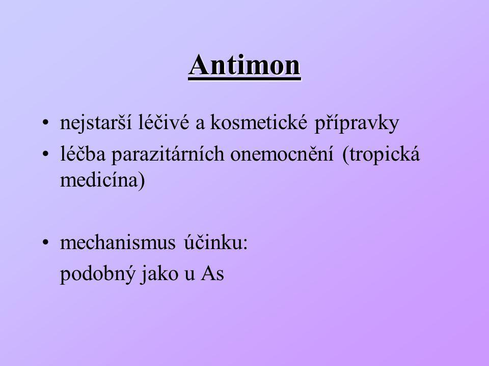 Antimon nejstarší léčivé a kosmetické přípravky
