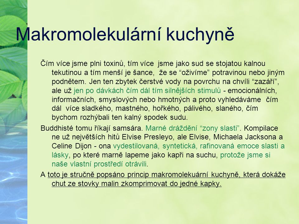 Makromolekulární kuchyně