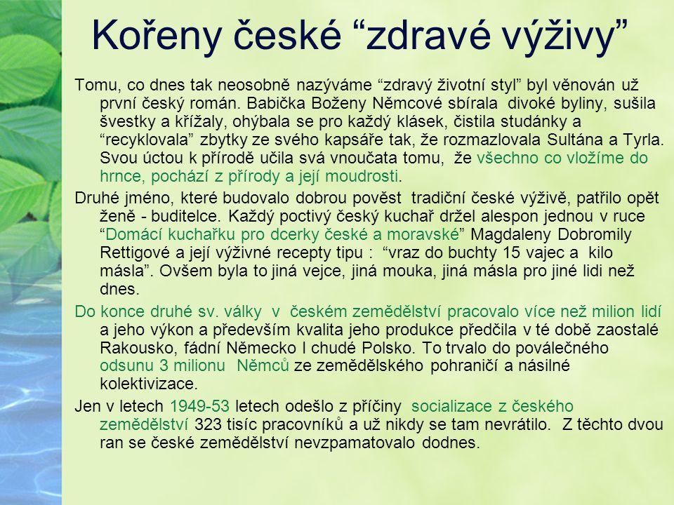 Kořeny české zdravé výživy