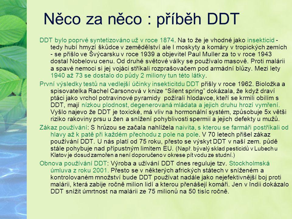 Něco za něco : příběh DDT