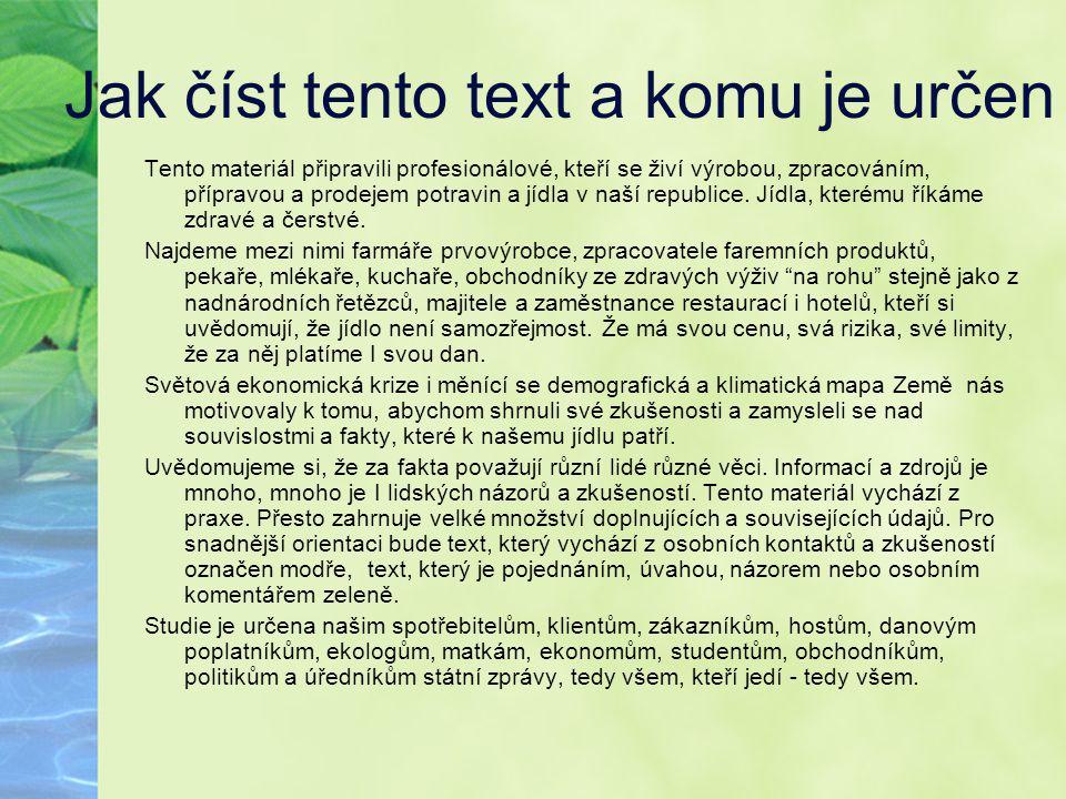 Jak číst tento text a komu je určen