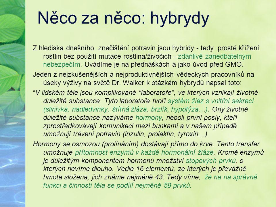 Něco za něco: hybrydy