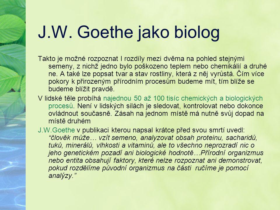 J.W. Goethe jako biolog