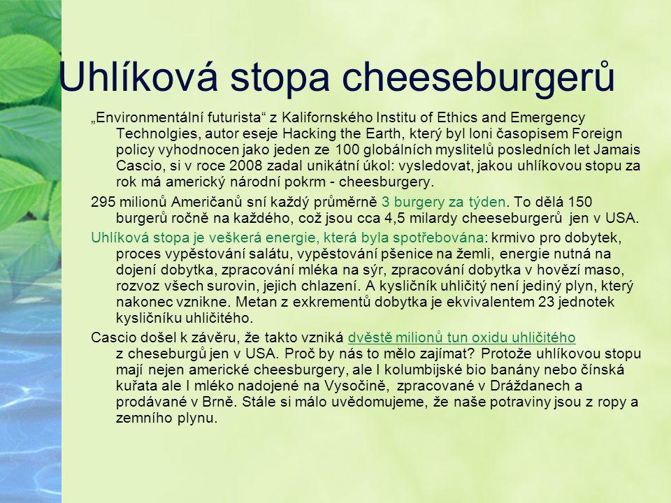 Uhlíková stopa cheeseburgerů