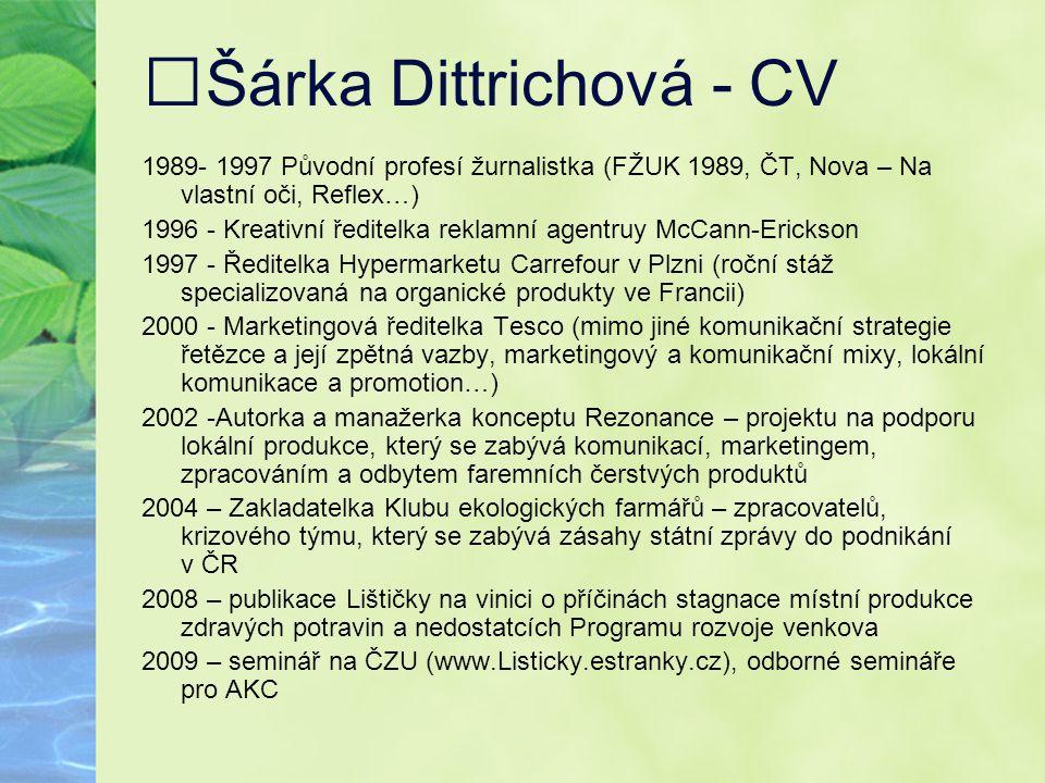 Šárka Dittrichová - CV