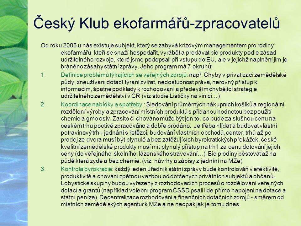 Český Klub ekofarmářů-zpracovatelů