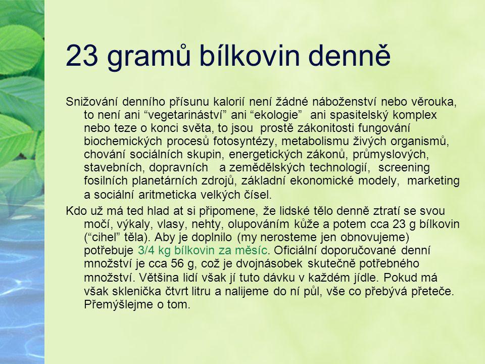 23 gramů bílkovin denně