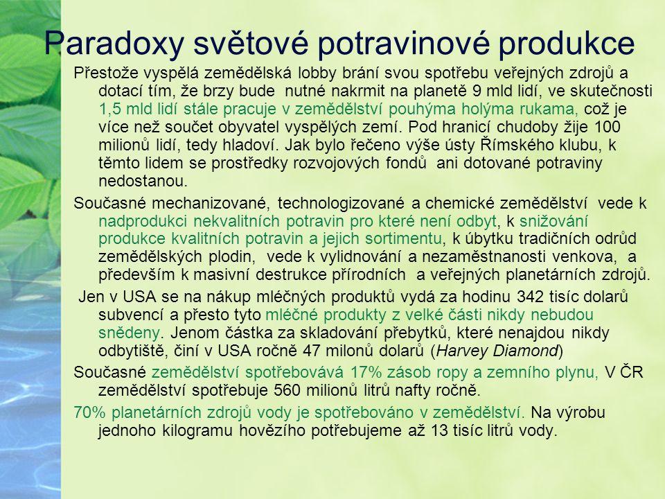 Paradoxy světové potravinové produkce