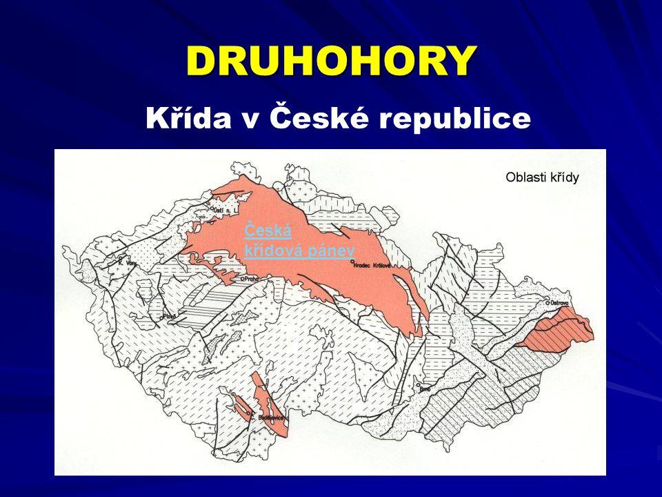 DRUHOHORY Křída v České republice Česká křídová pánev