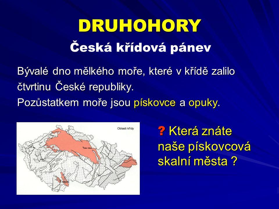 DRUHOHORY Česká křídová pánev