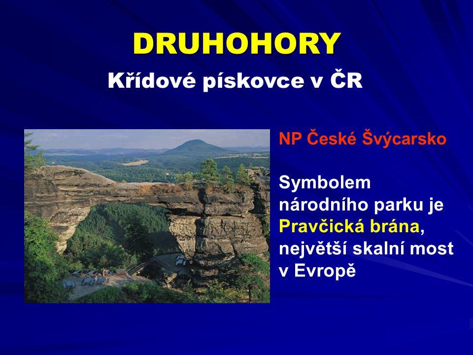 DRUHOHORY Křídové pískovce v ČR