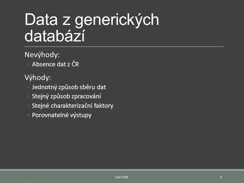 Data z generických databází