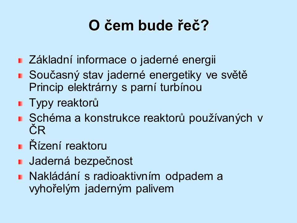 O čem bude řeč Základní informace o jaderné energii