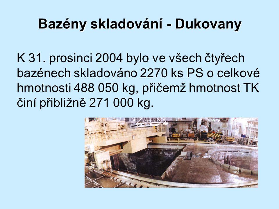 Bazény skladování - Dukovany