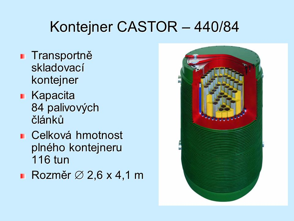 Kontejner CASTOR – 440/84 Transportně skladovací kontejner