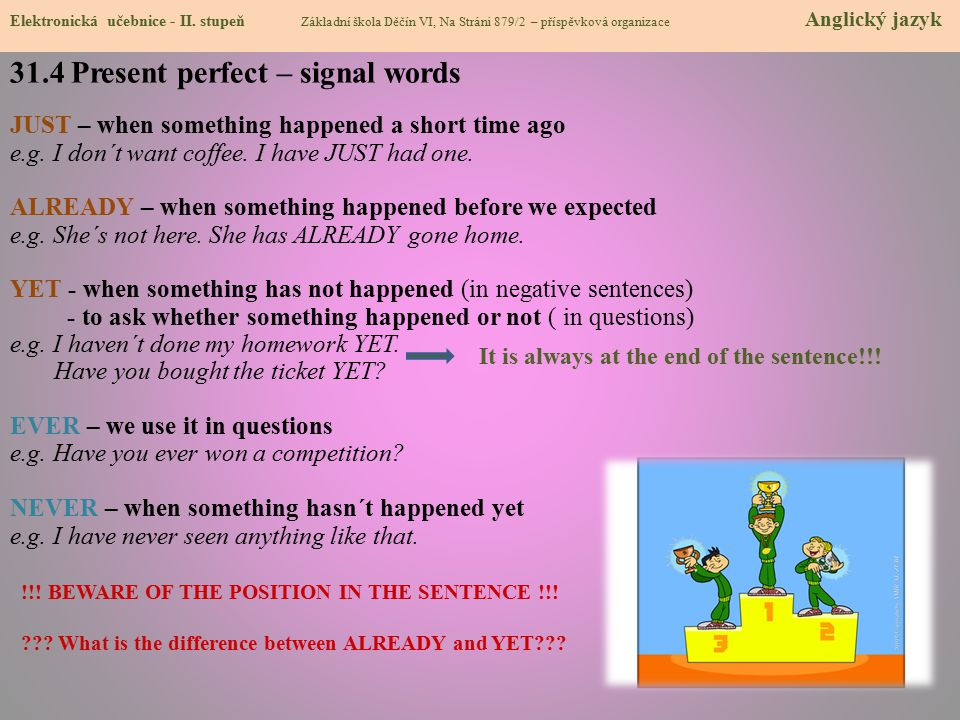 31.4 Present perfect – signal words
