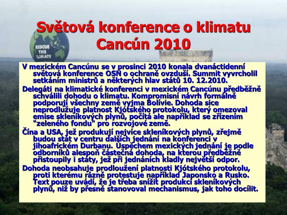Světová konference o klimatu Cancún 2010