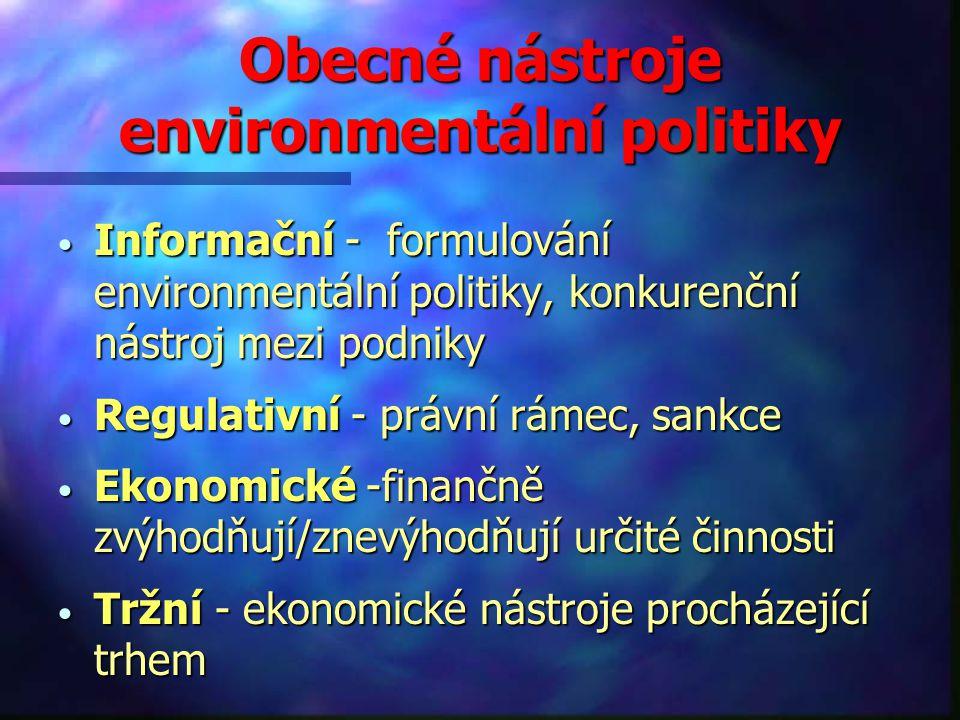Obecné nástroje environmentální politiky