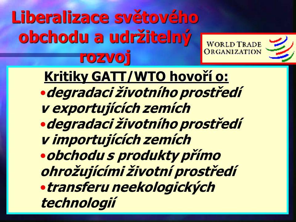 Liberalizace světového obchodu a udržitelný rozvoj