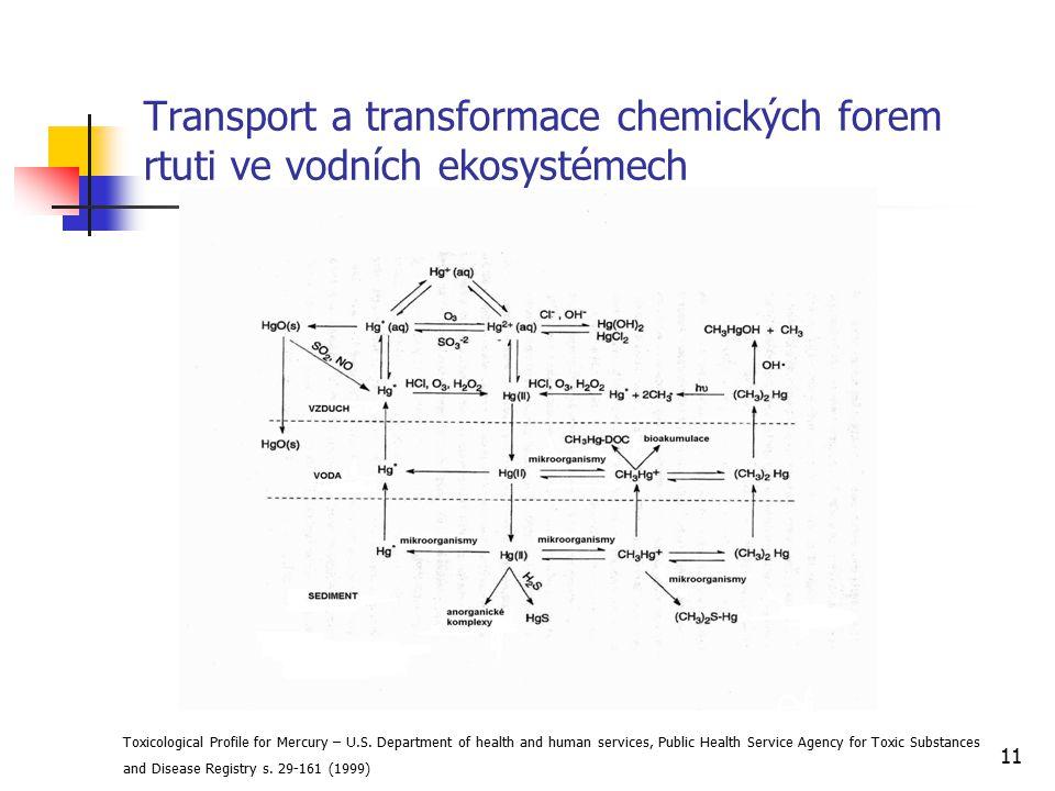 Transport a transformace chemických forem rtuti ve vodních ekosystémech