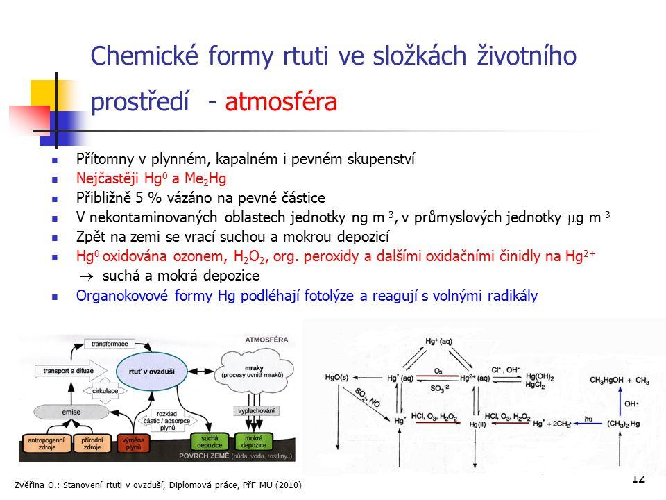Chemické formy rtuti ve složkách životního prostředí - atmosféra