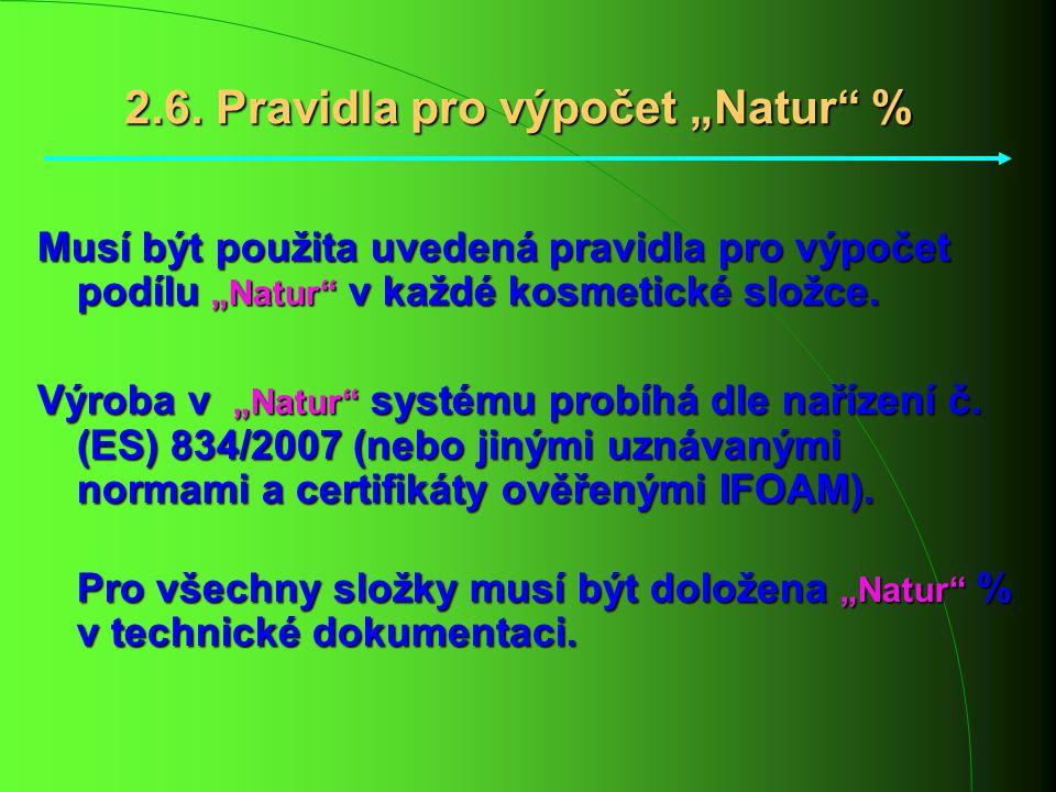 "2.6. Pravidla pro výpočet ""Natur %"