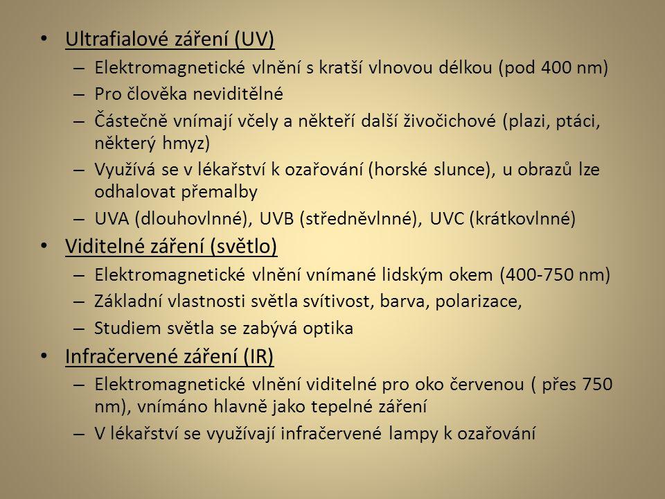 Ultrafialové záření (UV)