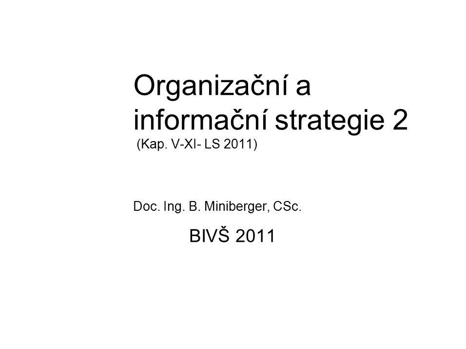 Organizační a informační strategie 2 (Kap. V-XI- LS 2011) Doc. Ing. B