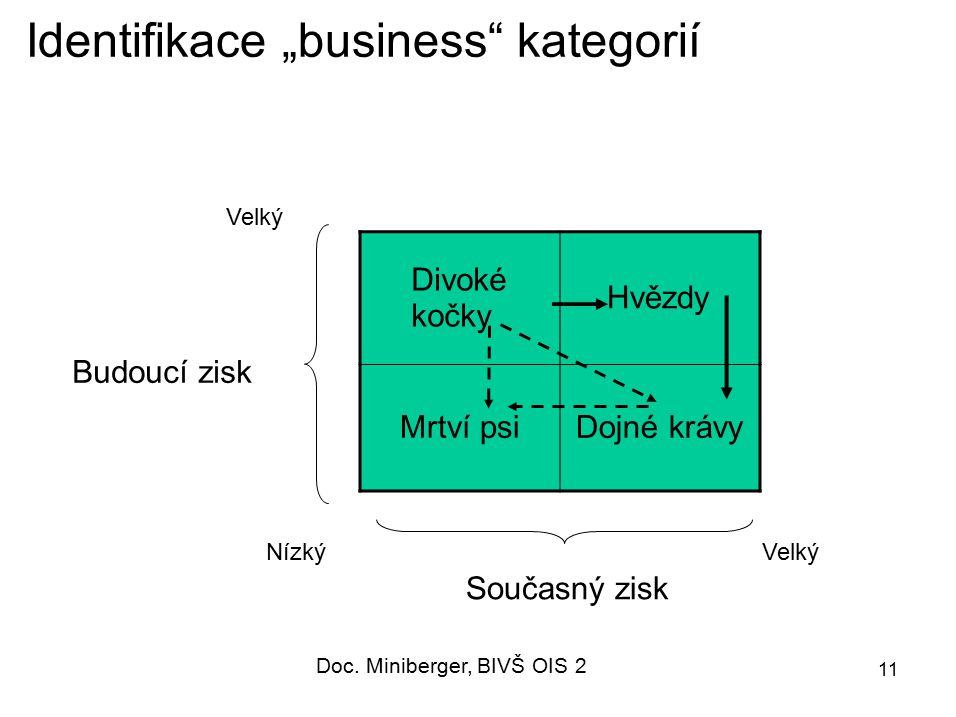 """Identifikace """"business kategorií"""