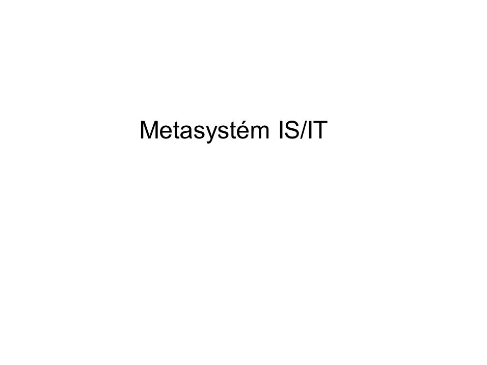 Metasystém IS/IT
