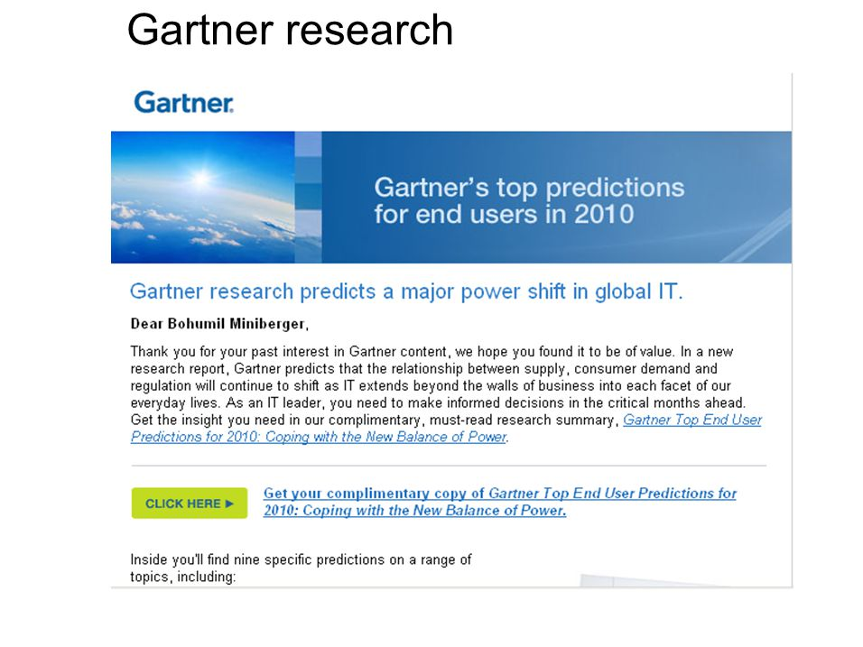 Gartner research