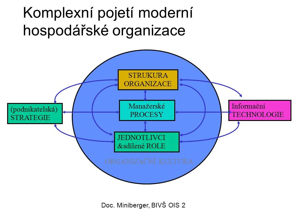 Komplexní pojetí moderní hospodářské organizace