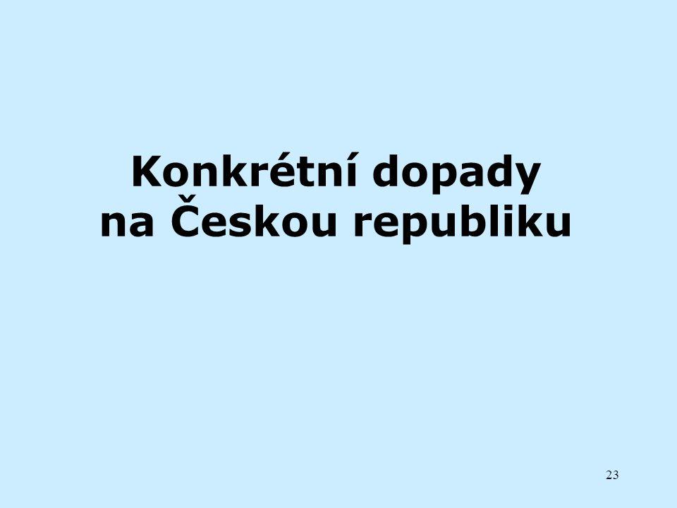 Konkrétní dopady na Českou republiku