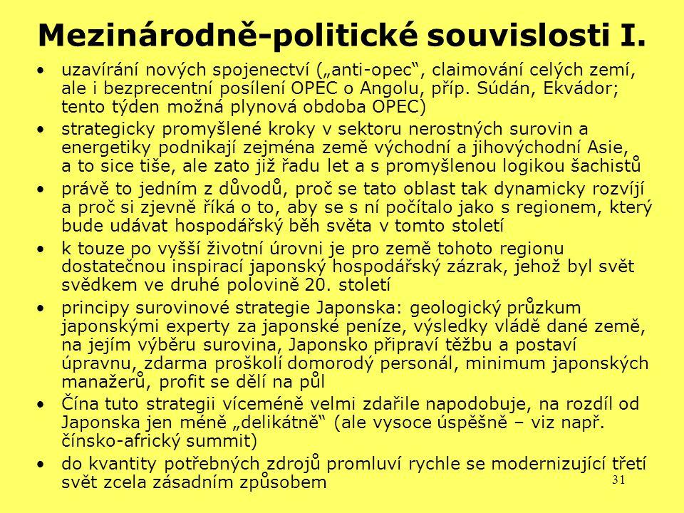 Mezinárodně-politické souvislosti I.