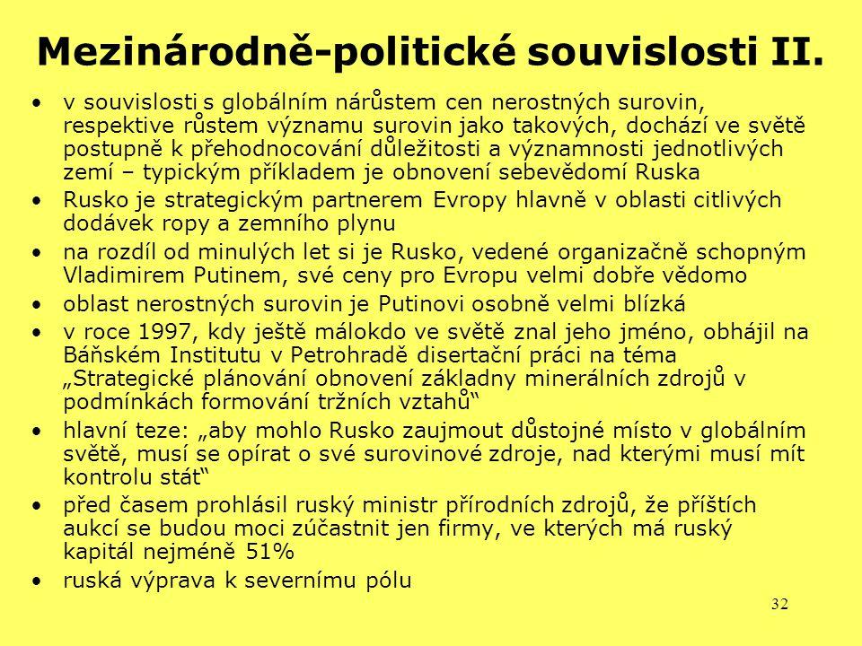 Mezinárodně-politické souvislosti II.