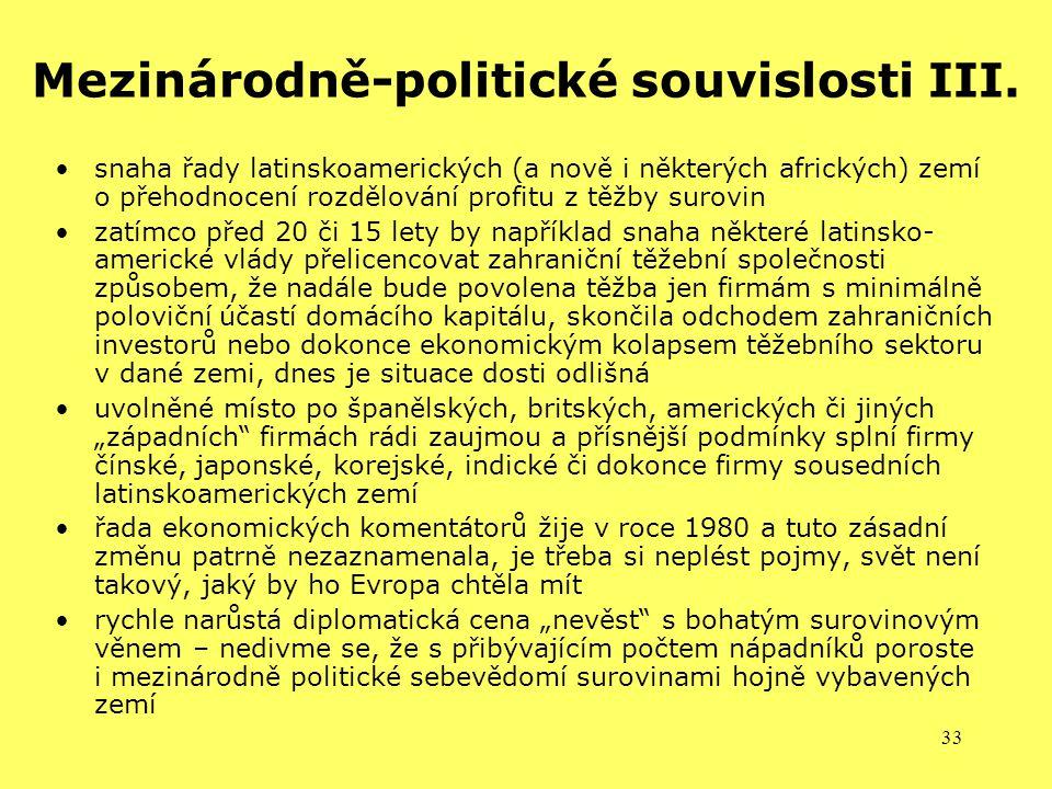Mezinárodně-politické souvislosti III.