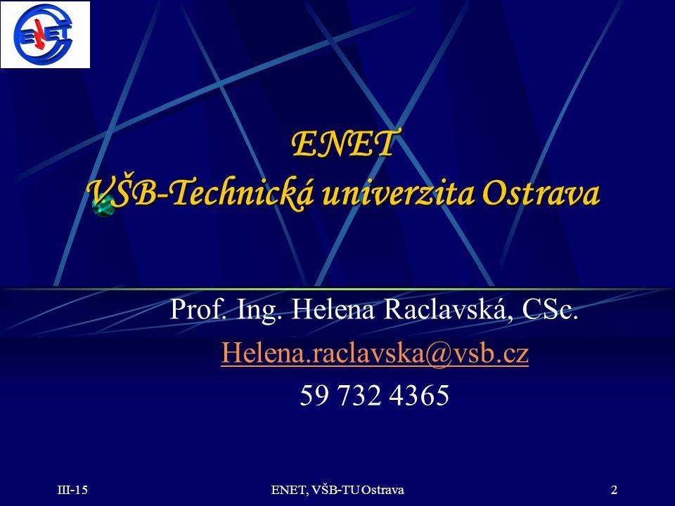 ENET VŠB-Technická univerzita Ostrava