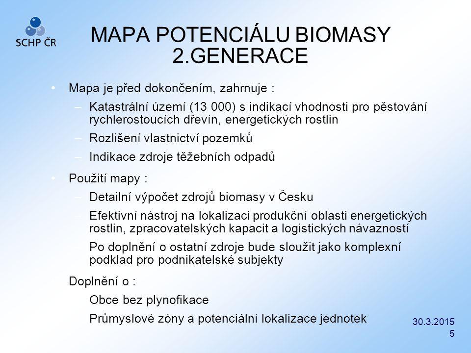 MAPA POTENCIÁLU BIOMASY 2.GENERACE