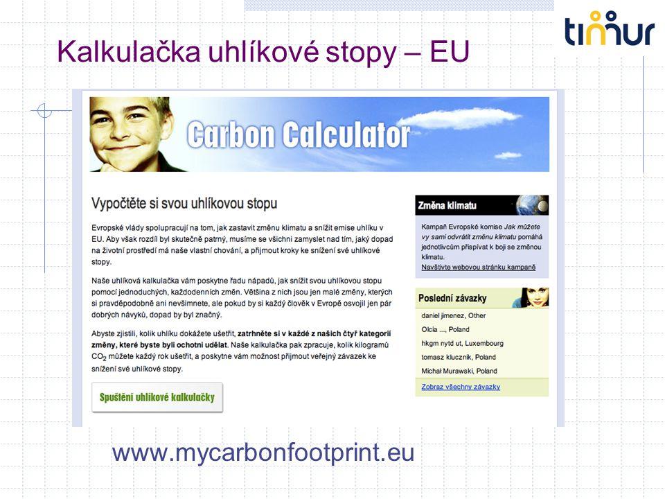 Kalkulačka uhlíkové stopy – EU