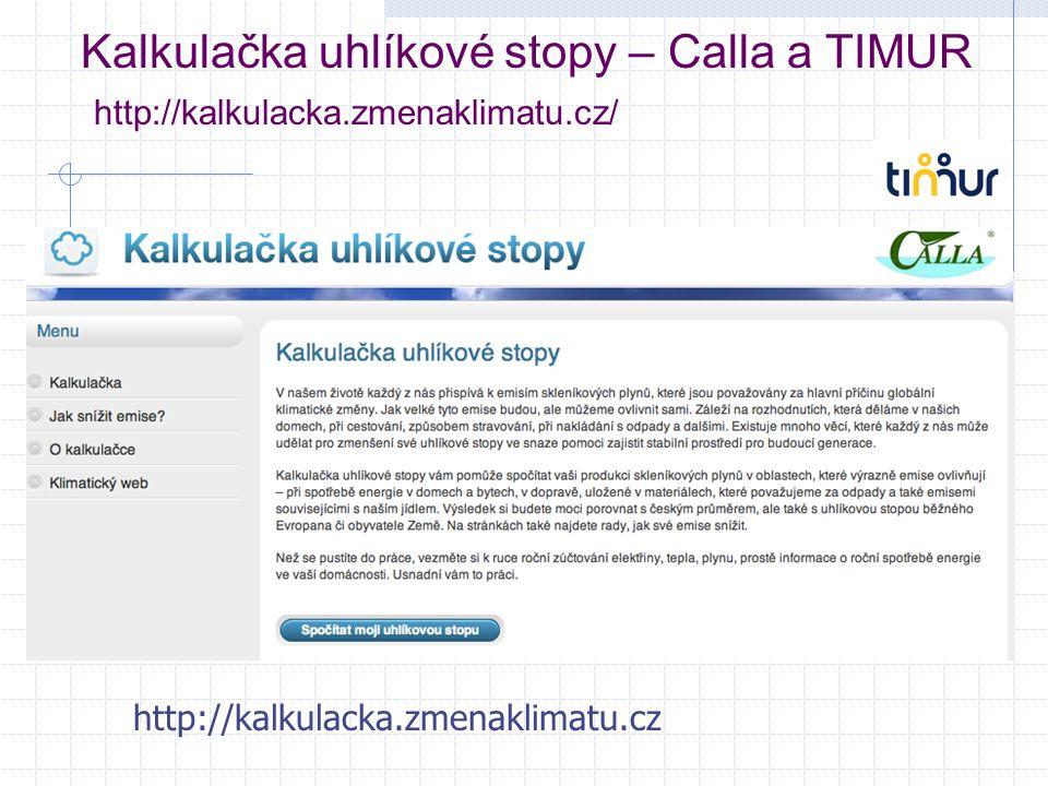 Kalkulačka uhlíkové stopy – Calla a TIMUR http://kalkulacka