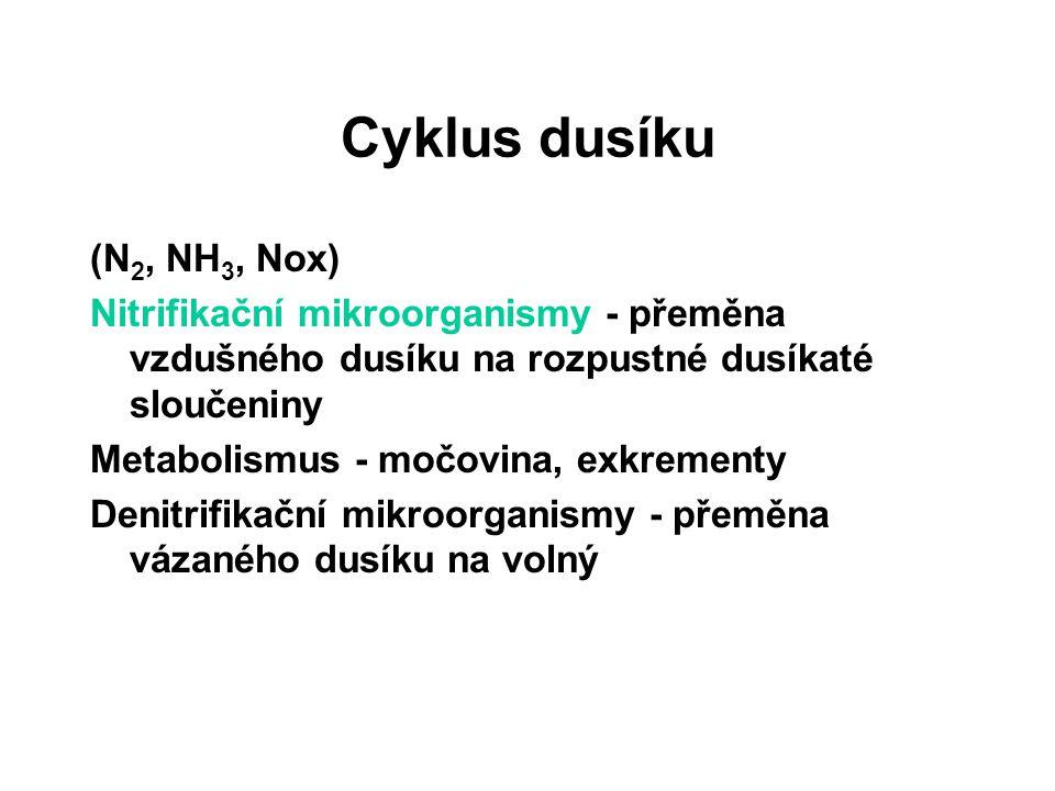 Cyklus dusíku (N2, NH3, Nox)