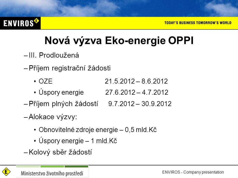 Nová výzva Eko-energie OPPI