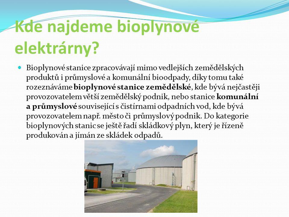 Kde najdeme bioplynové elektrárny